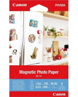 Canon Canon MG-101 4X6 5 SHEETS/MAGNETIC PHOTO PAPER, 3634C002