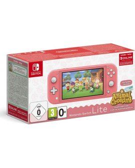 Nintendo Konsola Nintendo Switch Lite Coral + Animal Crossing: New Horizon + NSO (3 miesiące)