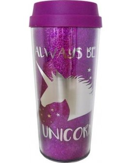 Incood Kubek termiczny Always be a unicorn 450ml różowy, 301243