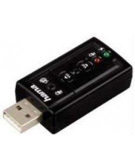Karta dźwiękowa Hama 7.1 Surround USB Sound Card (516200000)