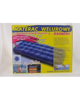 Antares Materac 1 osobowy Welur (S4424)